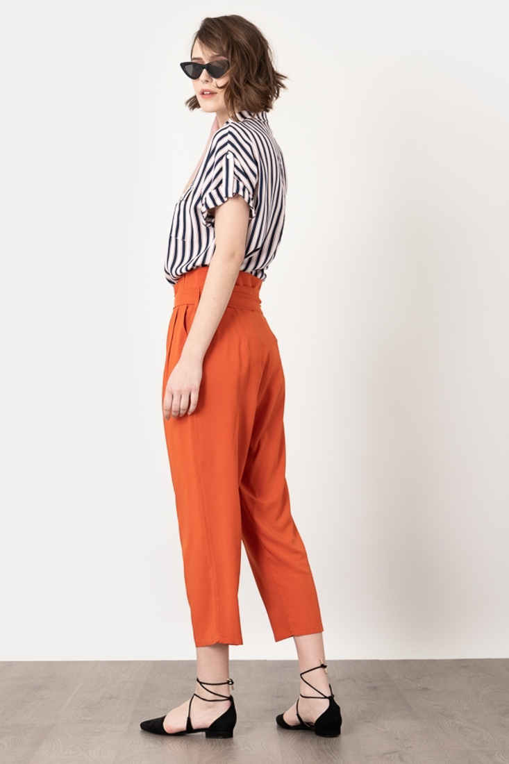 Picture of HIGH WAISTED PANTS WITH PLEATS