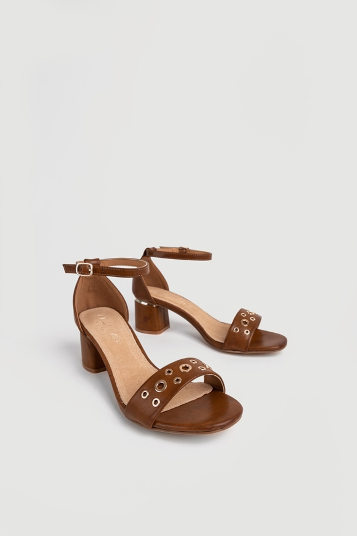 Picture of STUDDED HEEL SANDALS  (2)