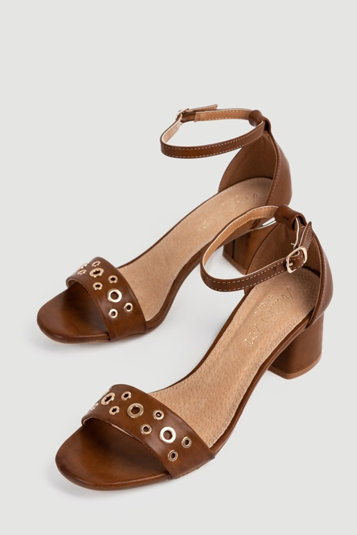 Picture of STUDDED HEEL SANDALS