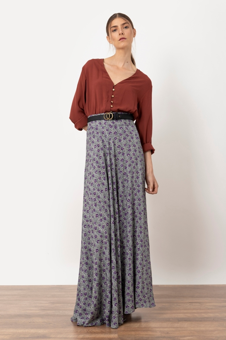 Picture of FLORAL PRINT MAXI SKIRT (2)
