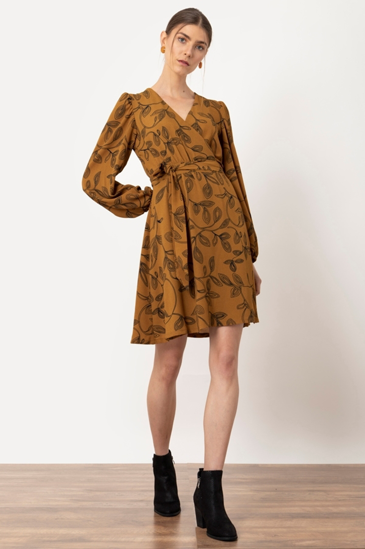Picture of FLORAL PRINT WRAP DRESS (2)