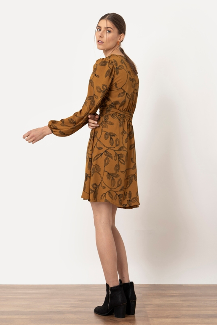 Picture of FLORAL PRINT WRAP DRESS