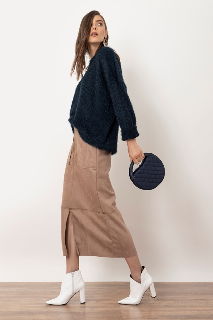 Picture of MIDI SUEDE SKIRT (2)