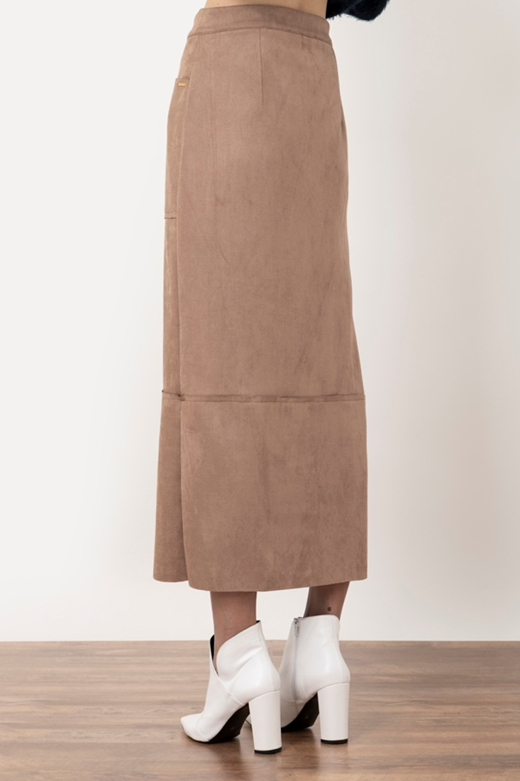 Picture of MIDI SUEDE SKIRT
