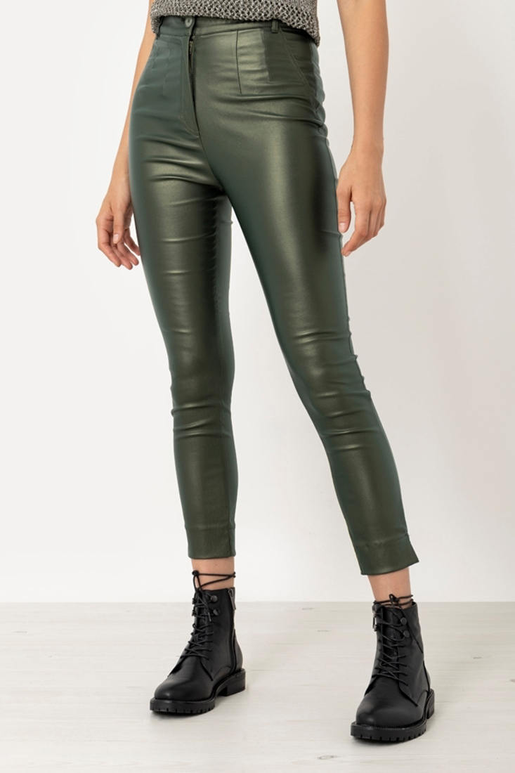Picture of LEATHER EFFECT TROUSERS