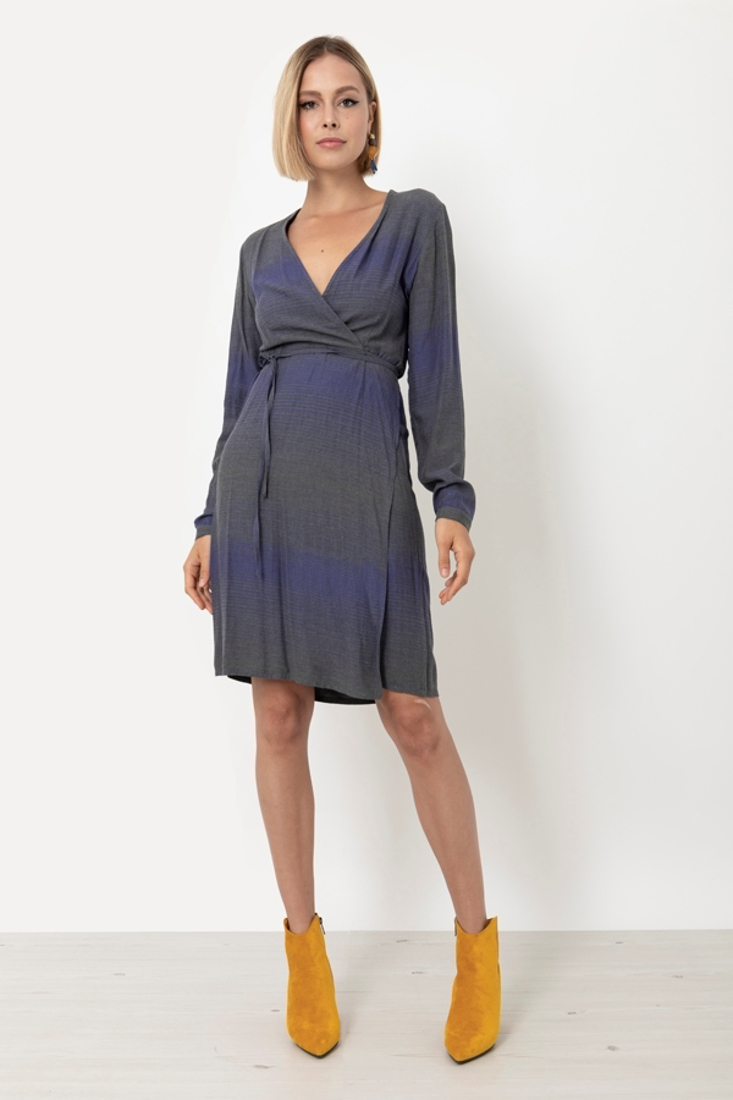 Picture of STRIPED WRAP DRESS
