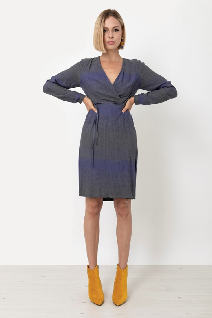 Picture of STRIPED WRAP DRESS (2)