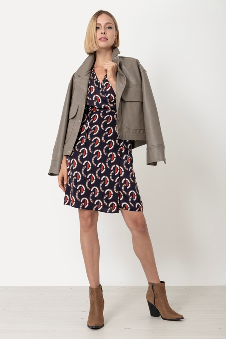 Picture of PRINTED WRAP DRESS