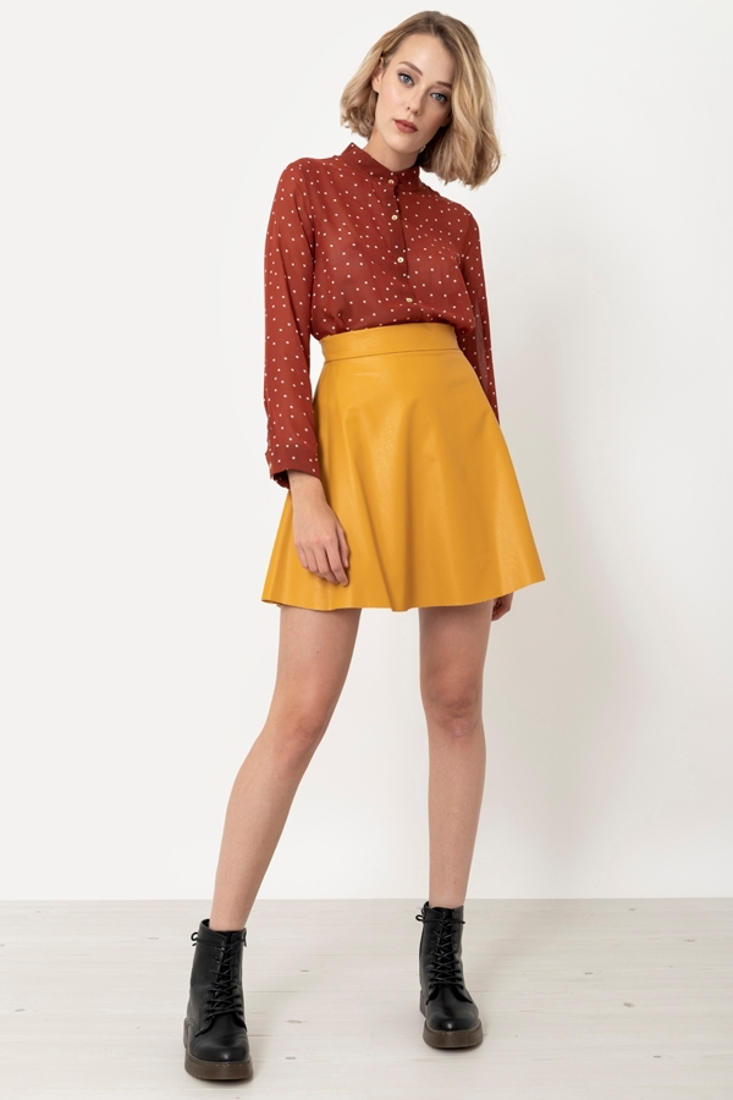 Picture of LEATHER EFFECT MINI SKIRT