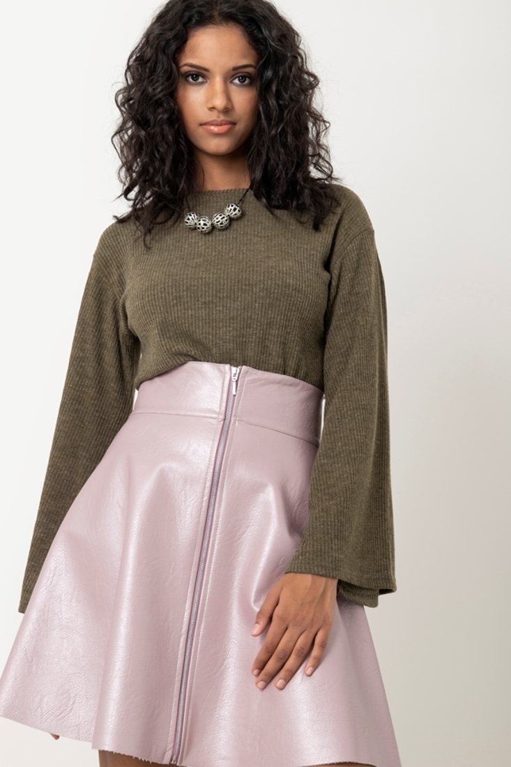 Picture of LEATHER EFFECT MINI SKIRT (2)