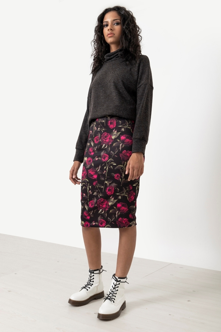 Picture of MIDI PRINTED SKIRT (2)