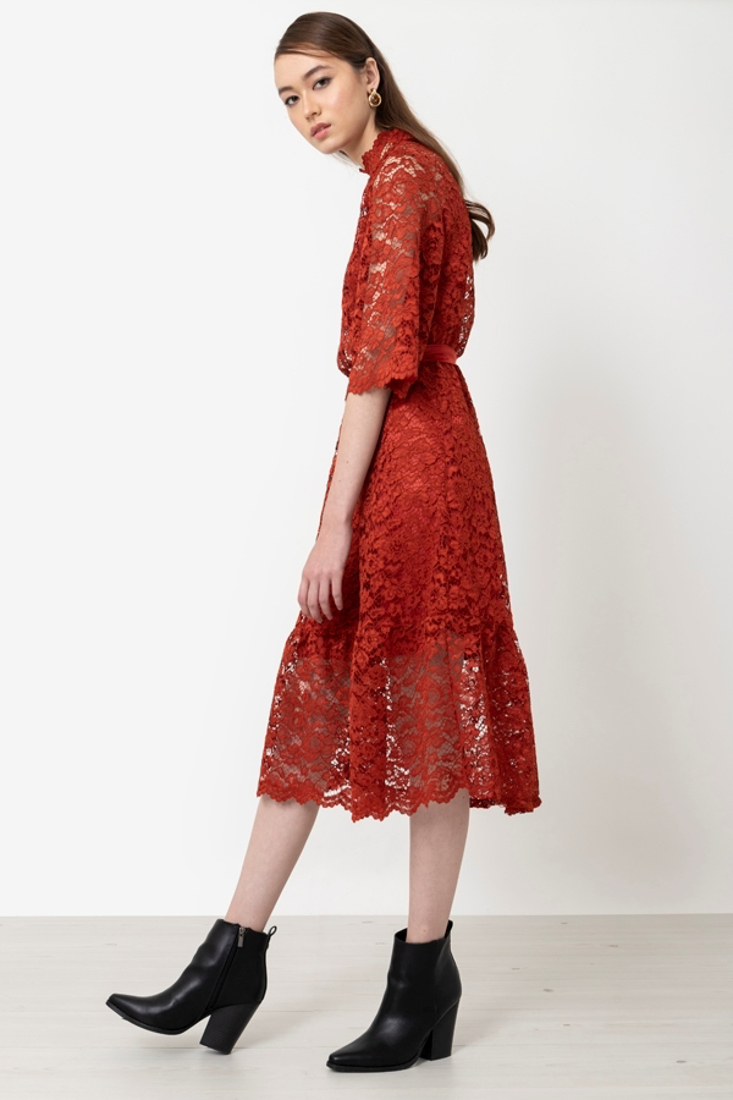 Picture of LACED MIDI DRESS (2)
