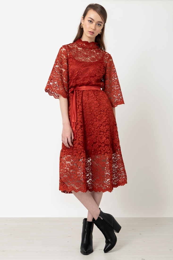Picture of LACED MIDI DRESS