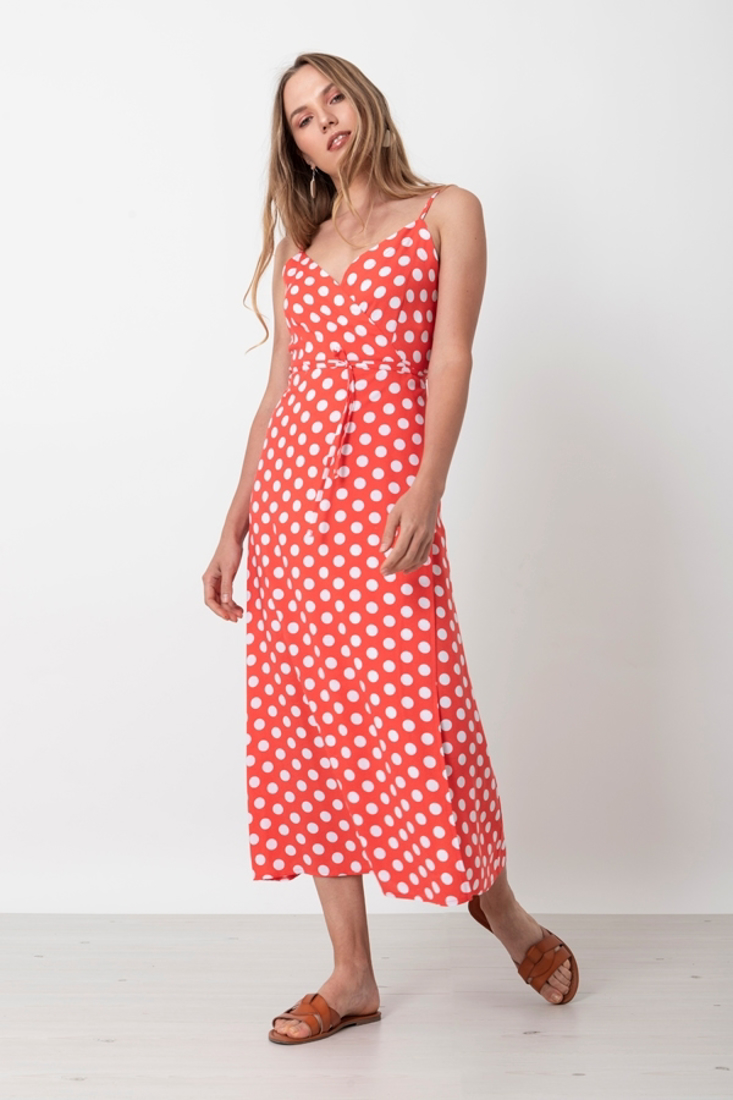 Picture of POLKA DOT WRAP DRESS