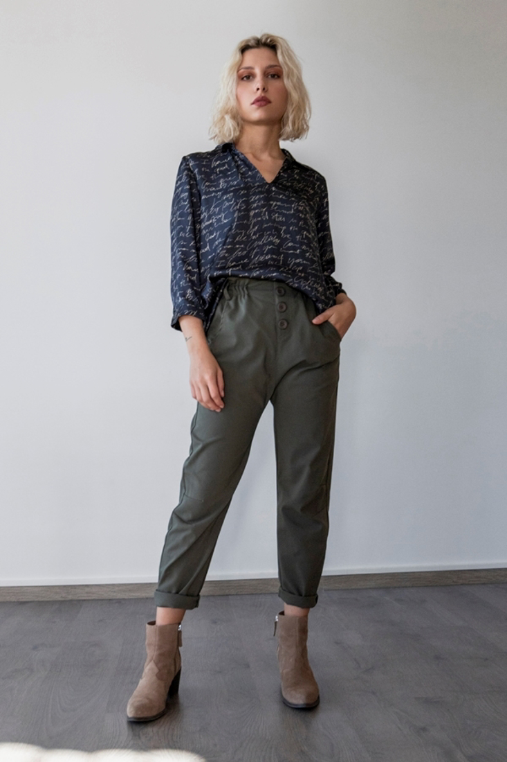 Picture of SATIN BLOUSE WITH PRINT