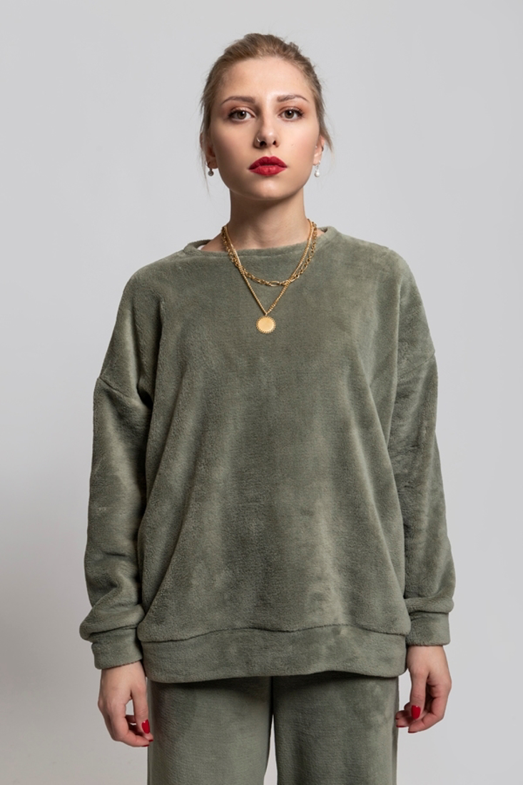 Picture of OVERSIZED FAUX FUR BLOUSE