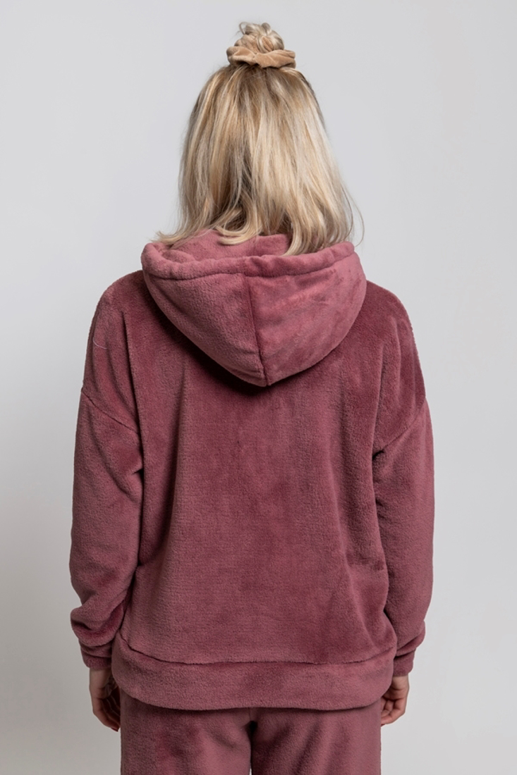 Picture of HOODED FAUX FUR COAT