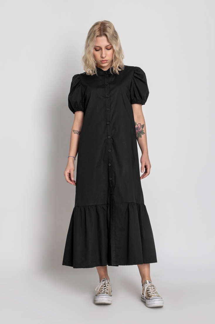 Picture of LONG DRESS WITH PUFF SLEEVES (2)