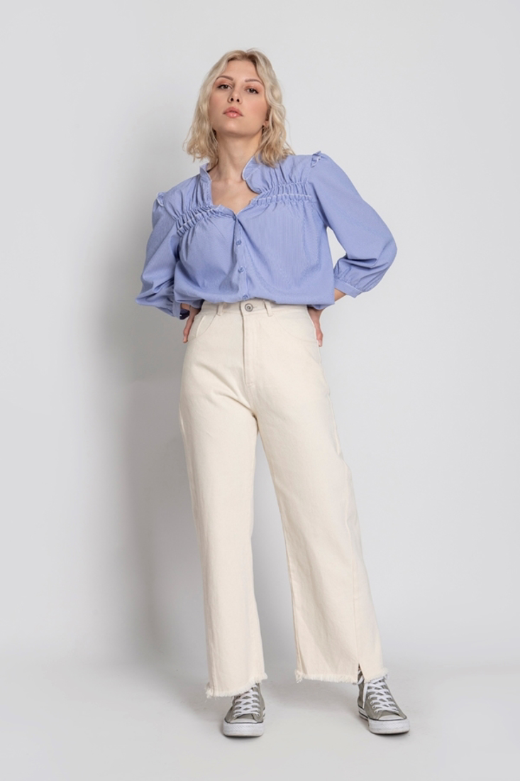 Picture of DENIM CROPPED TROUSERS (2)