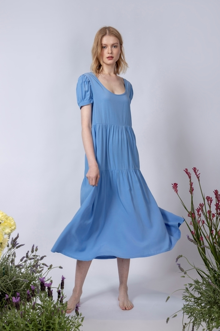 Picture of LONG FRILLED DRESS  (2)
