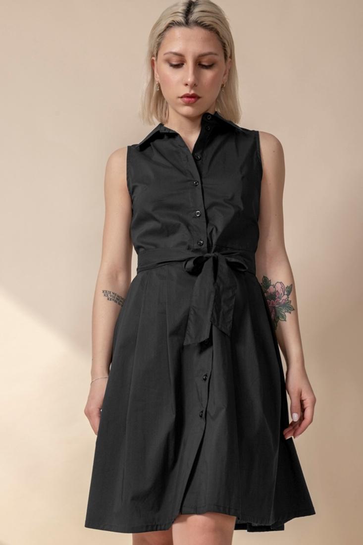 Picture of SLEEVELESS SHIRT DRESS (2)