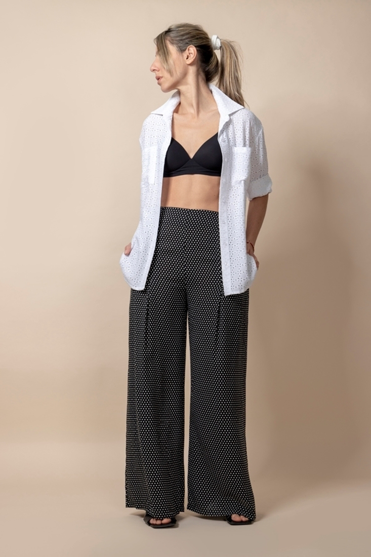Picture of POLKA DOT WIDE LEG TROUSERS (2)