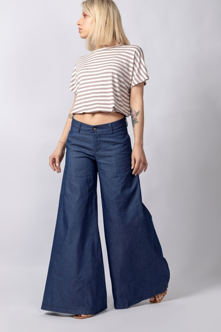 Picture of DENIM WIDE LEG TROUSERS
