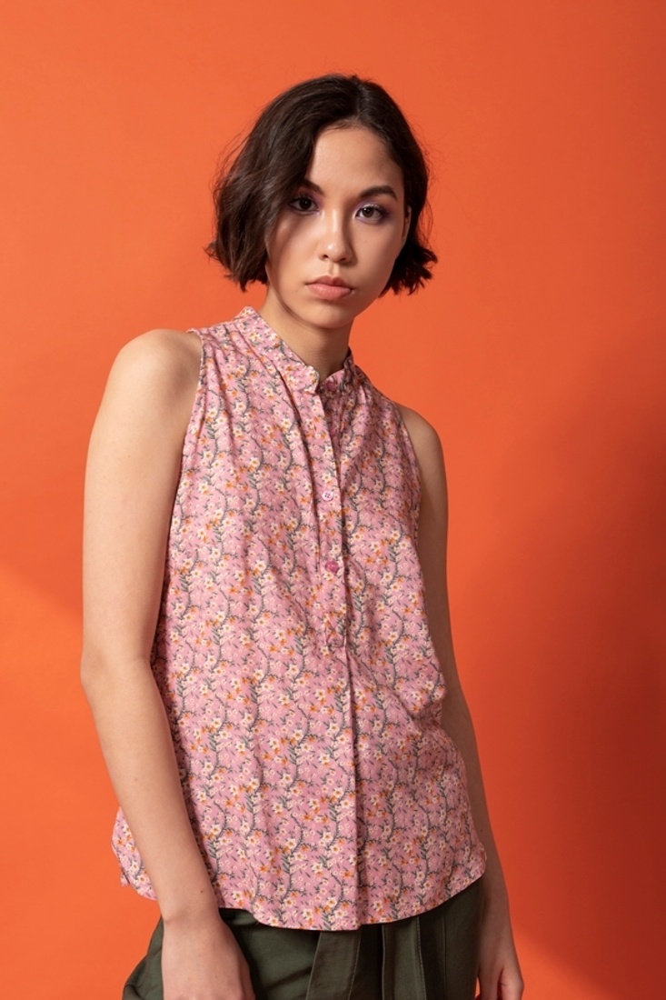 Picture of SLEEVELESS PRINTED TOP