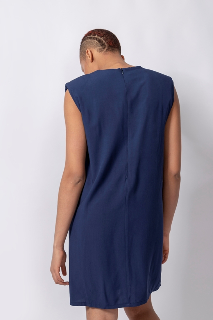 Picture of SHORT DRESS WITH SHOULDER PADS