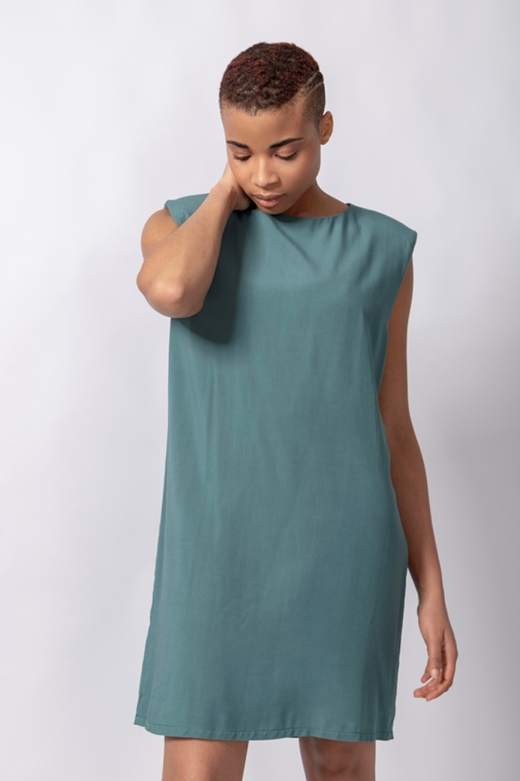 Picture of SHORT DRESS WITH SHOULDER PADS (2)