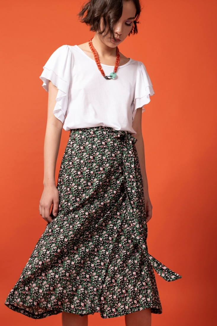 Picture of MIDI WRAP SKIRT