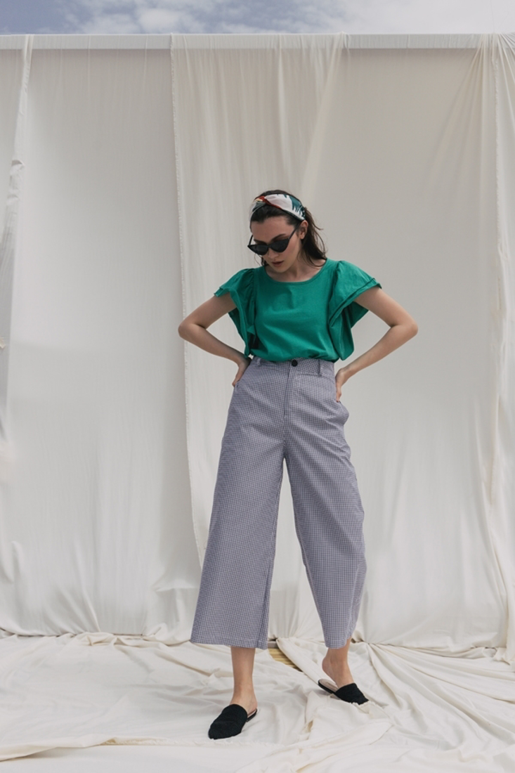 Picture of CHECK CROP TROUSERS (2)