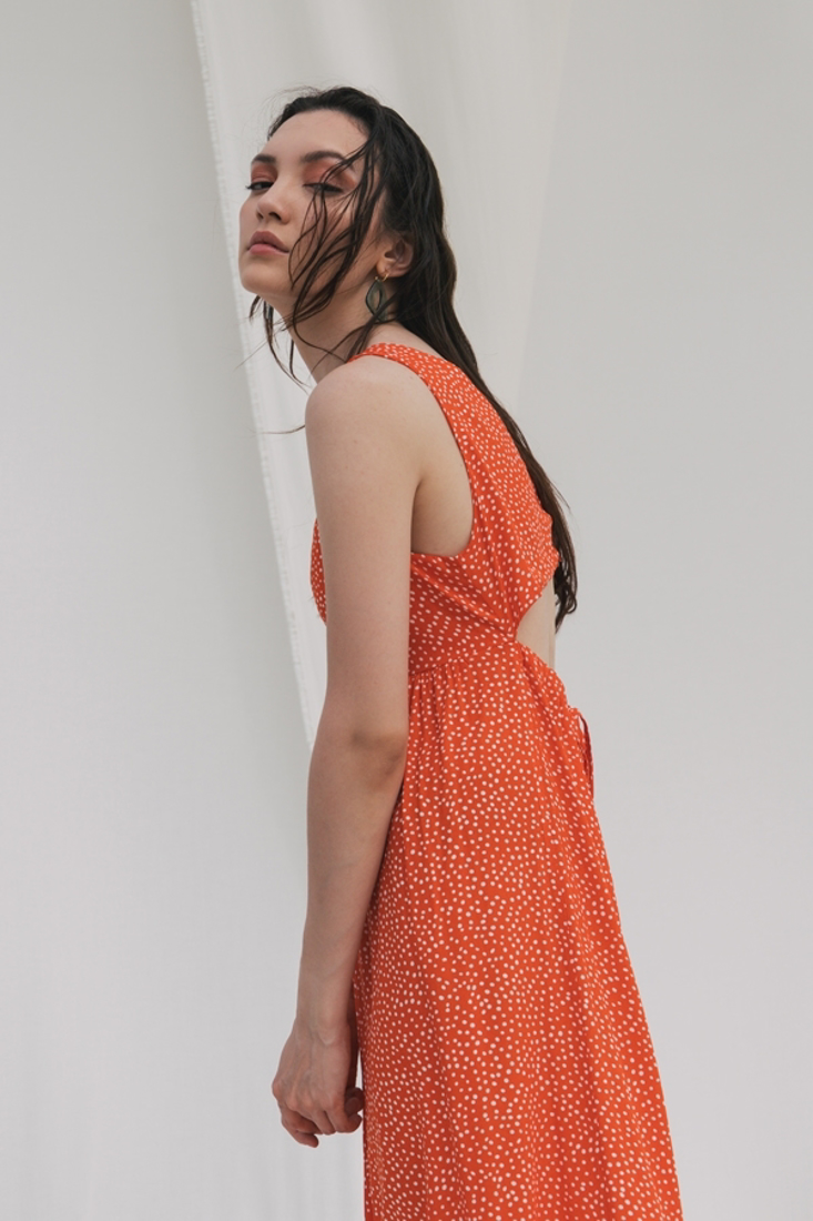 Picture of POLKA DOT LONG DRESS (2)