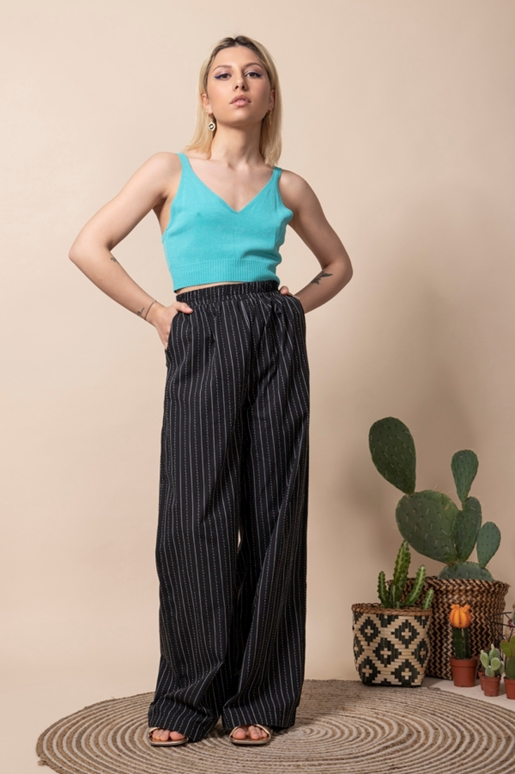 Picture of HIGH WAISTED WIDE LEG PANTS