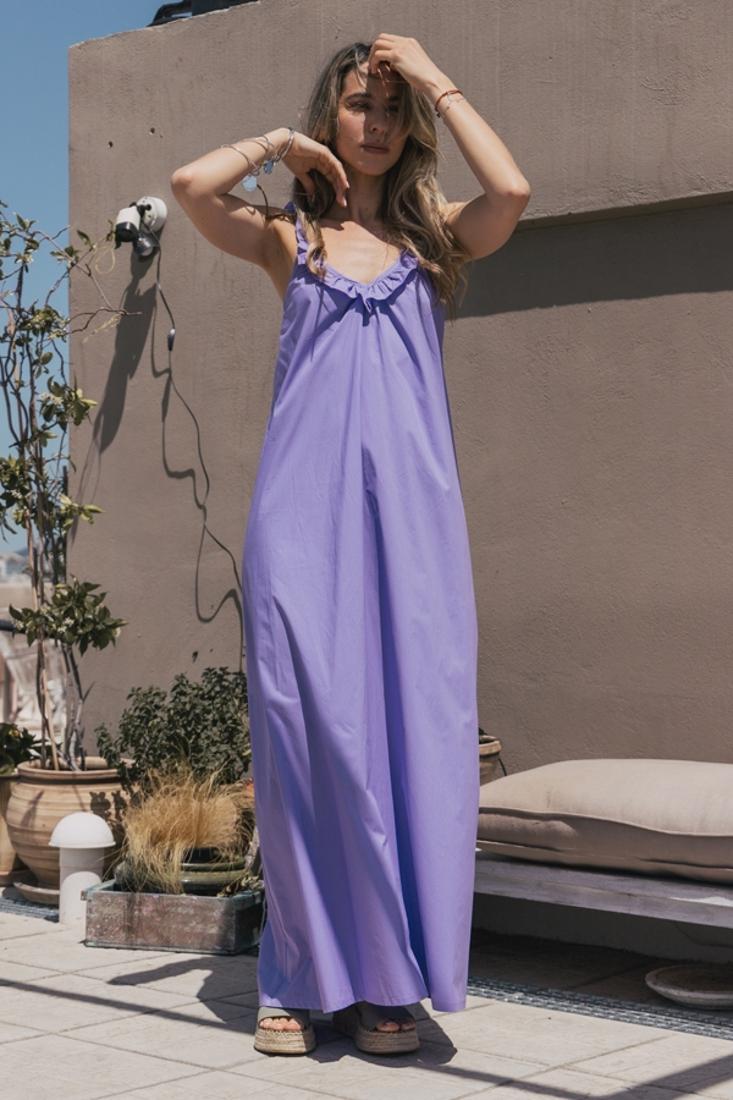 Picture of POPLINE LONG DRESS