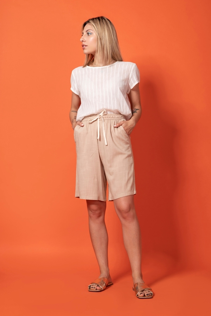 Picture of HIGH WAISTED LINEN SHORTS