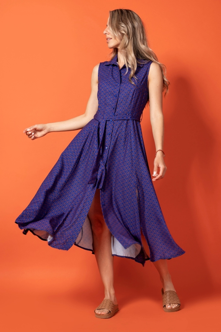 Picture of SLEEVELESS PRINTED SHIRT DRESS
