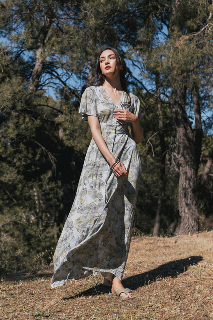 Picture of LONG PRINTED DRESS