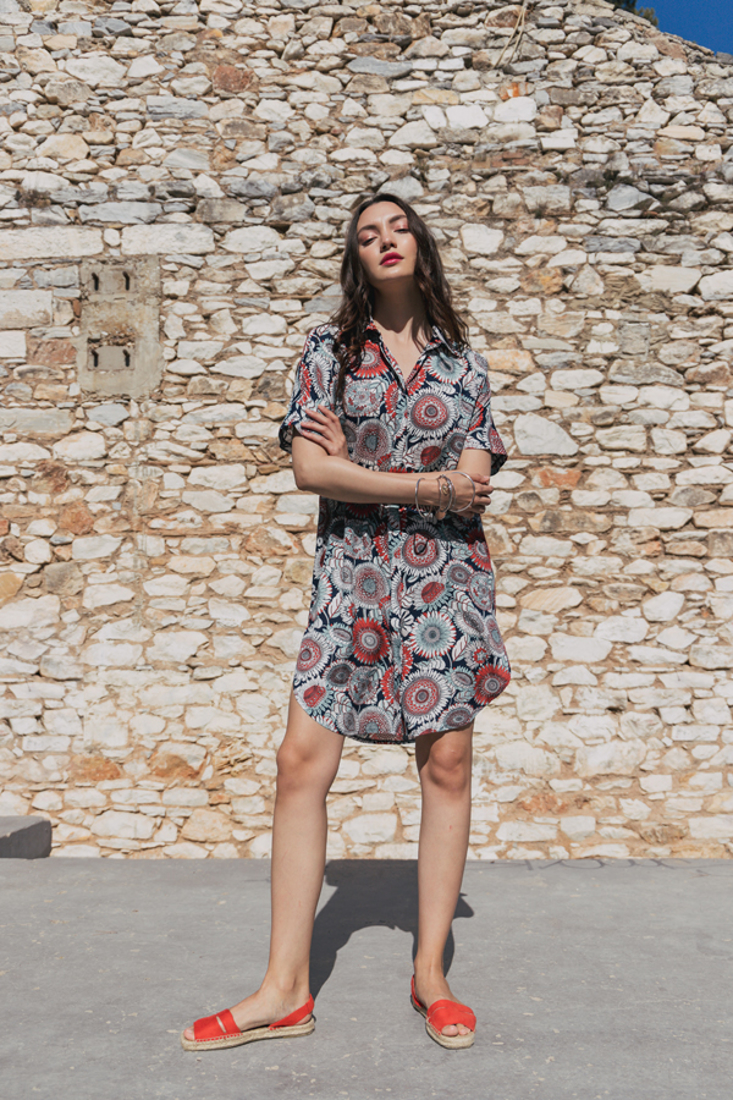 Picture of PRINTED SHIRT DRESS (2)