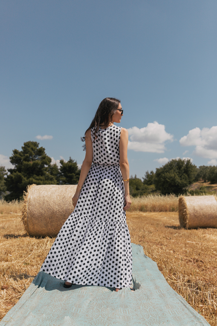 Picture of POLKA DOT LONG DRESS
