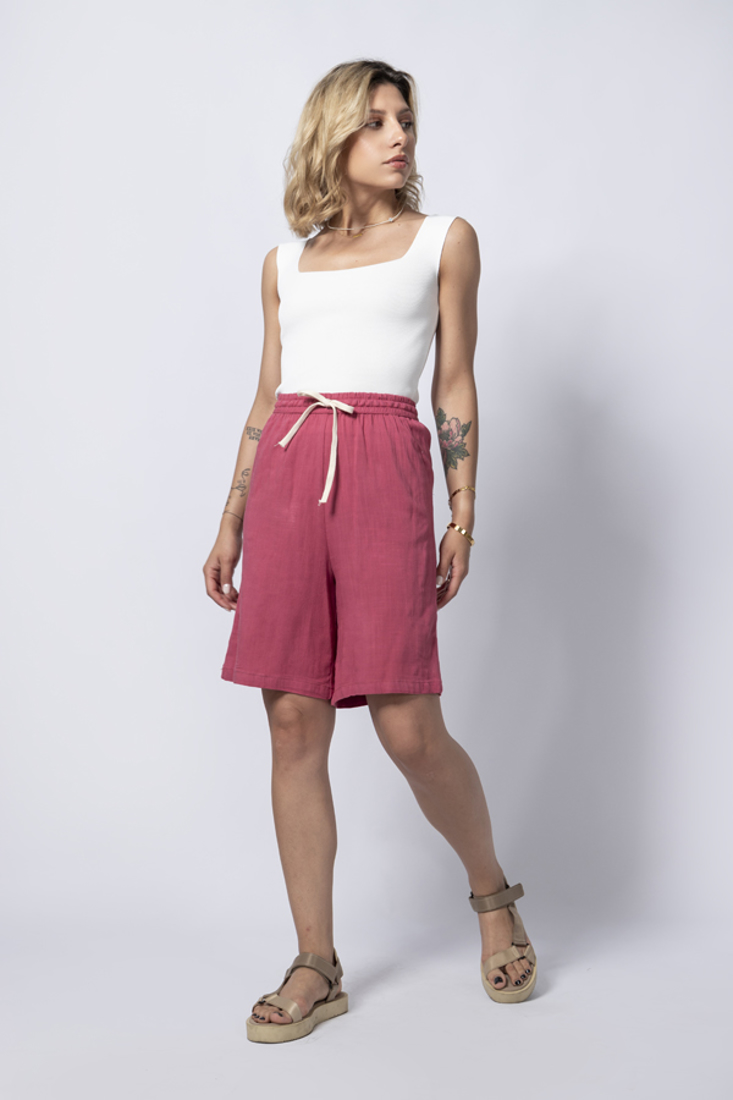 Picture of HIGH WAISTED LINEN SHORTS (2)