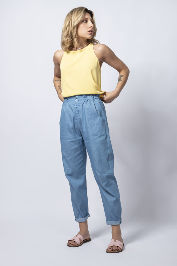 Picture of DENIM HIGHWAISTED TROUSERS