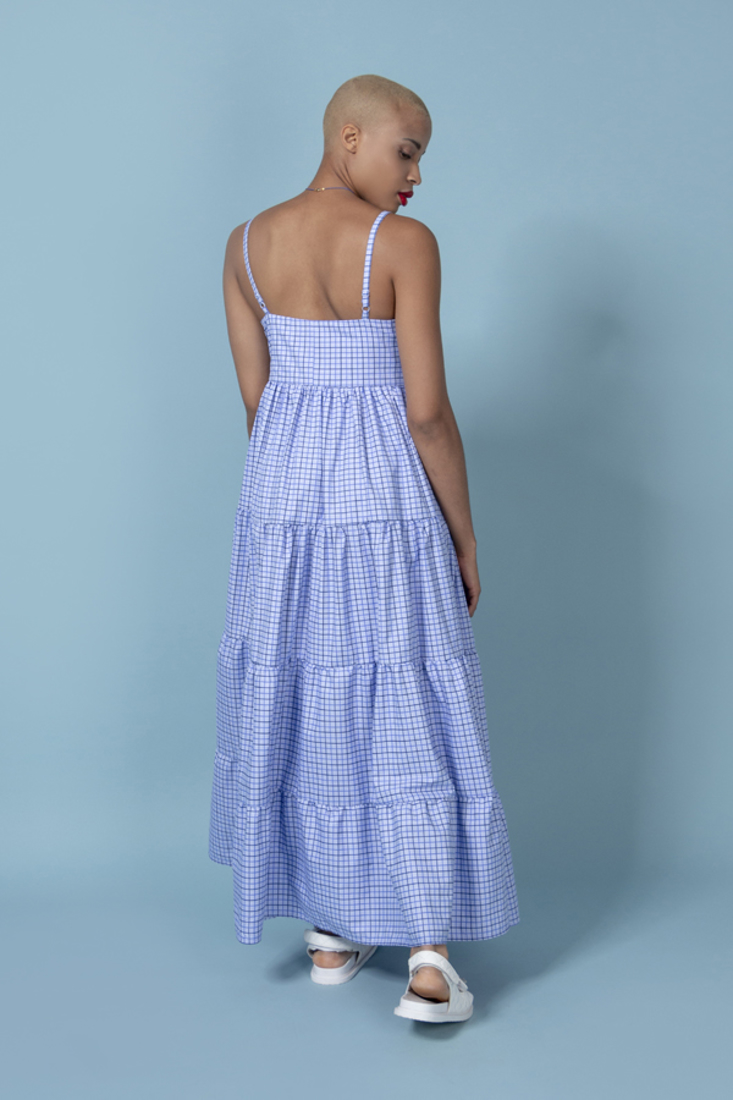 Picture of LONG PLAID DRESS