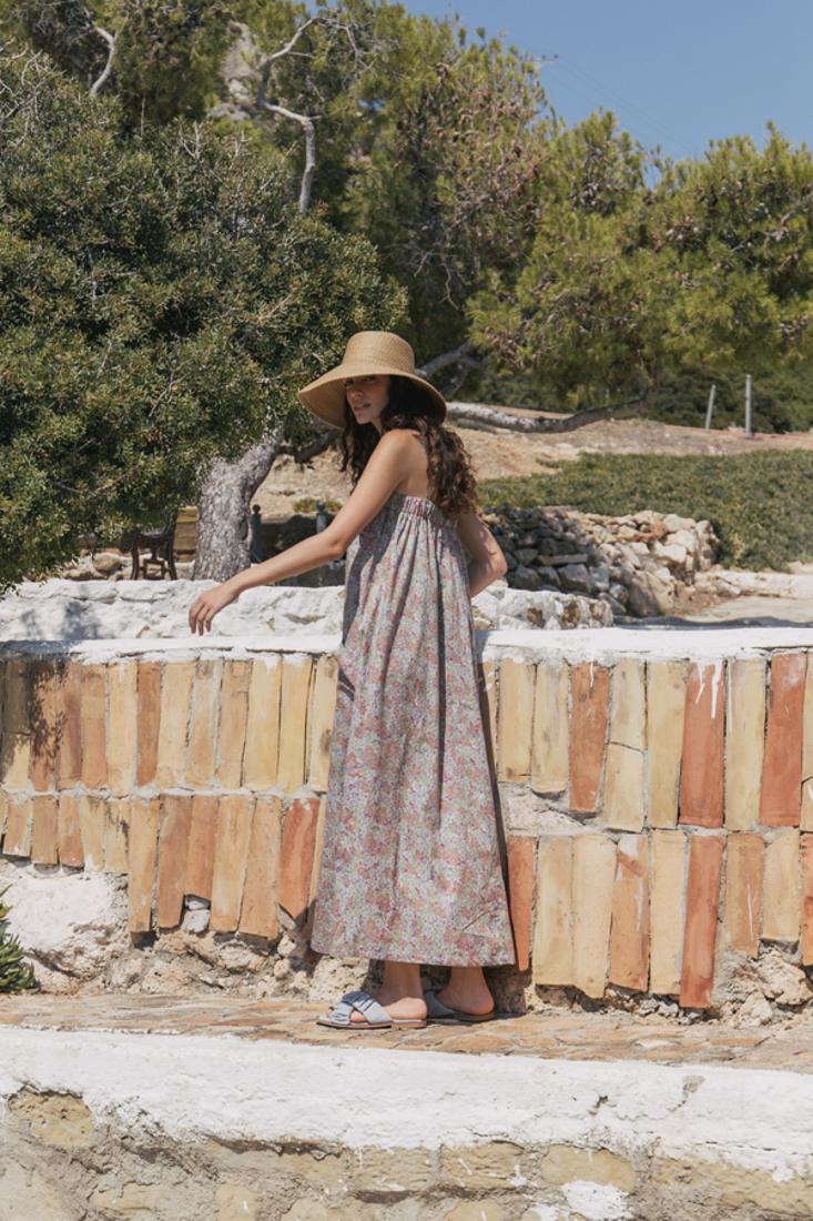 Picture of LONG POPLINE DRESS