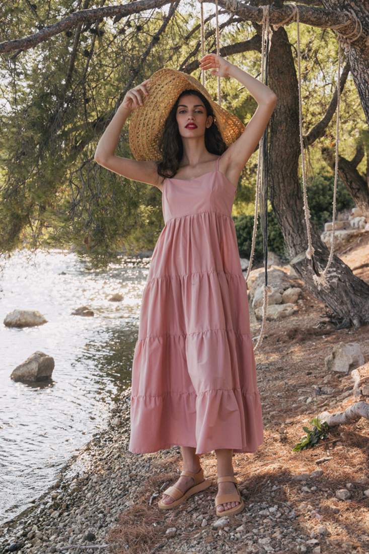 Picture of LONG FRILLED DRESS