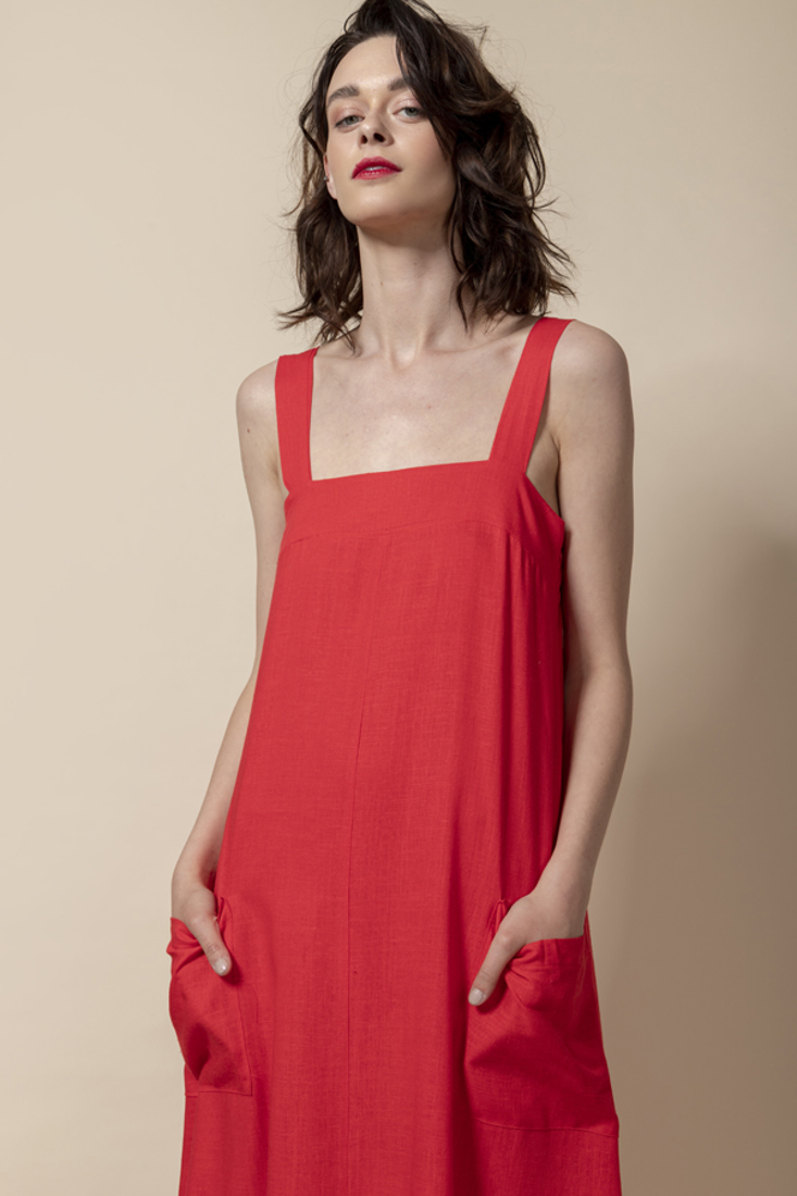 Picture of LONG LINEN DRESS