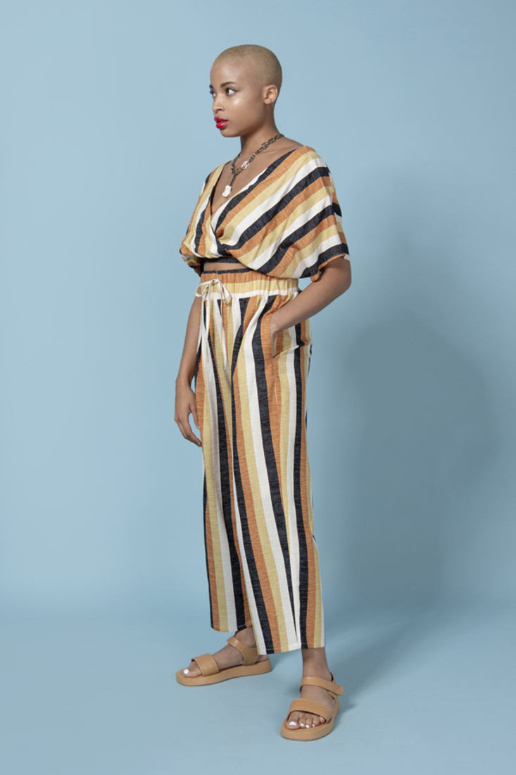 Picture of LINEN STRIPED TROUSERS (2)