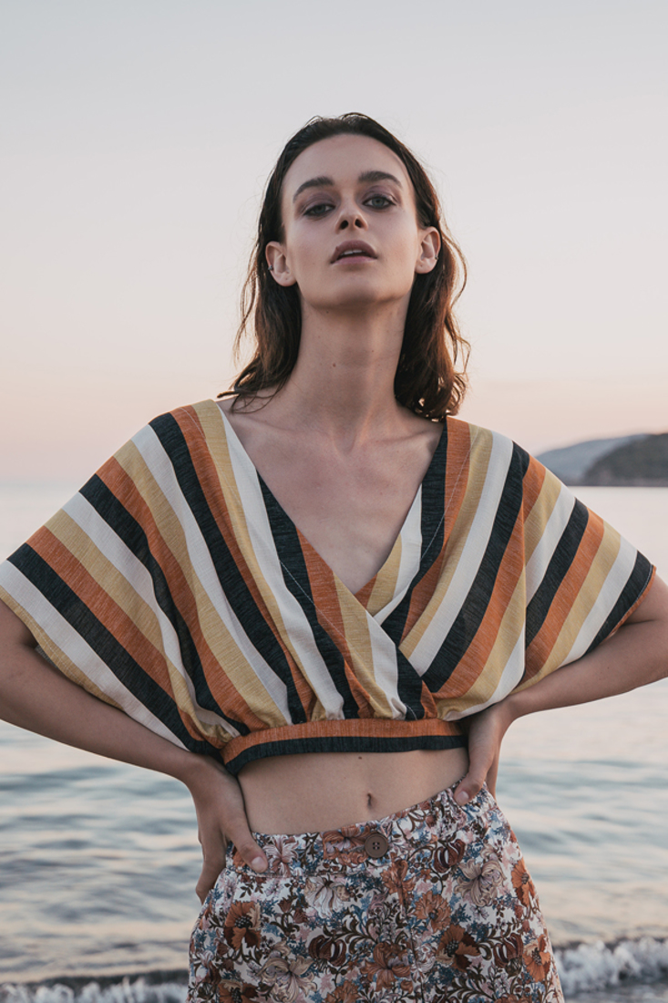 Picture of WRAP STRIPED TOP (2)