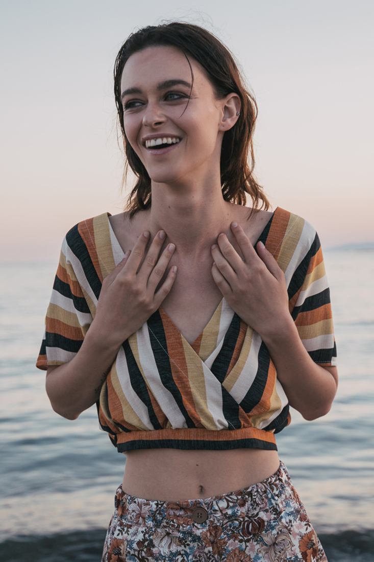 Picture of WRAP STRIPED TOP
