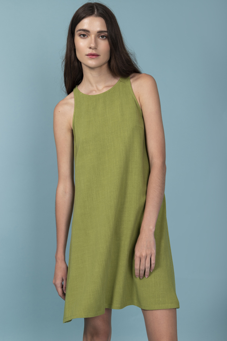 Picture of LINEN SLEEVELESS DRESS (2)